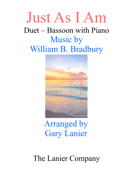Gary Lanier: JUST AS I AM (Duet –  Bassoon & Piano with Parts)