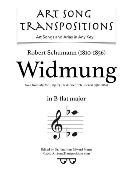 Widmung, Op. 25 no. 1 (B-flat major)