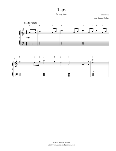 Taps - for easy piano