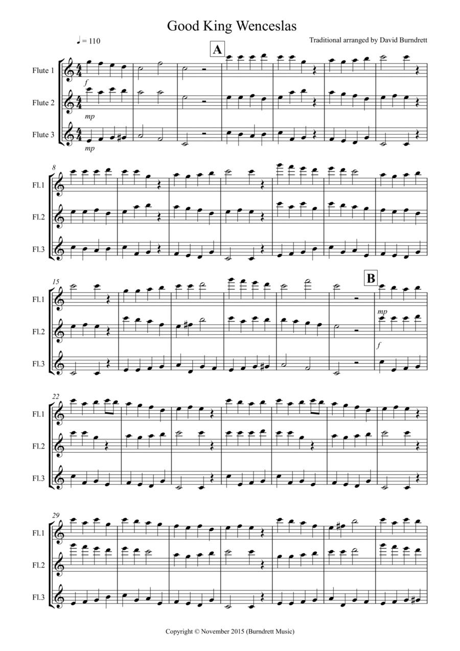 Good King Wenceslas for Flute Trio