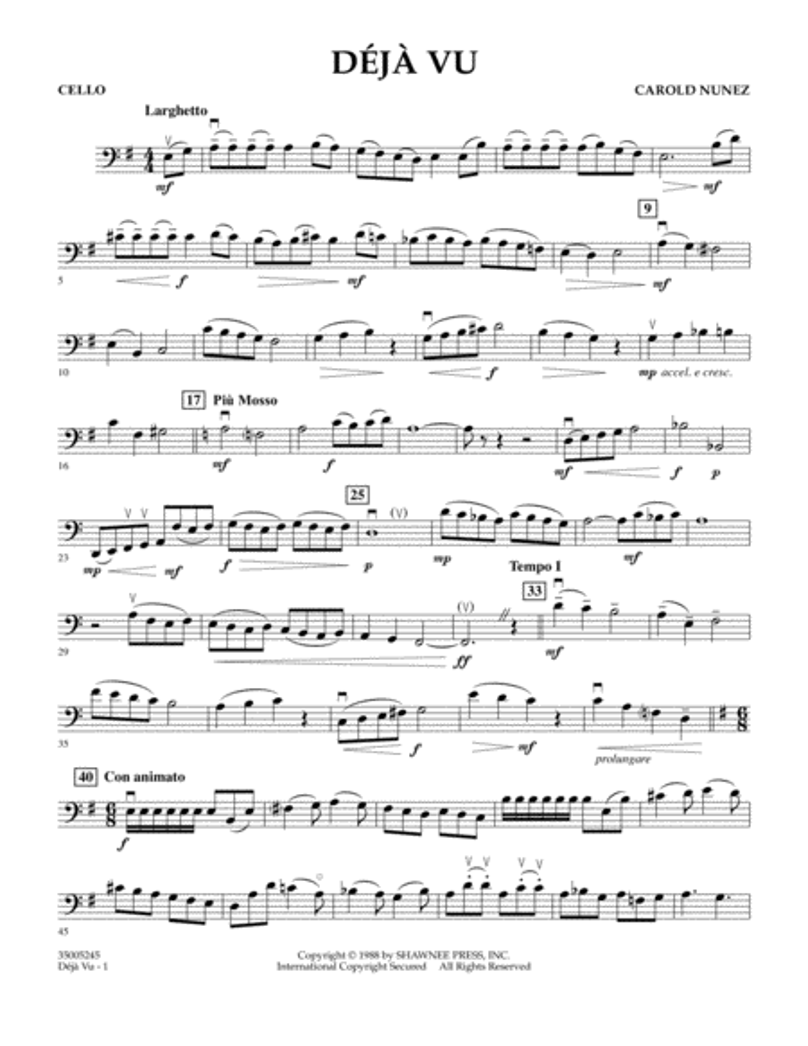 Deja Vu - Cello