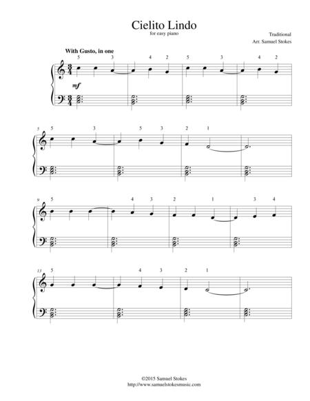 Cielito Lindo - for easy piano