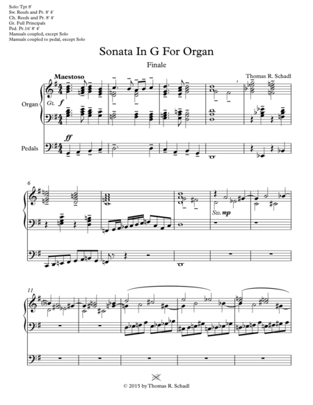 Sonata In G For Organ-Finale