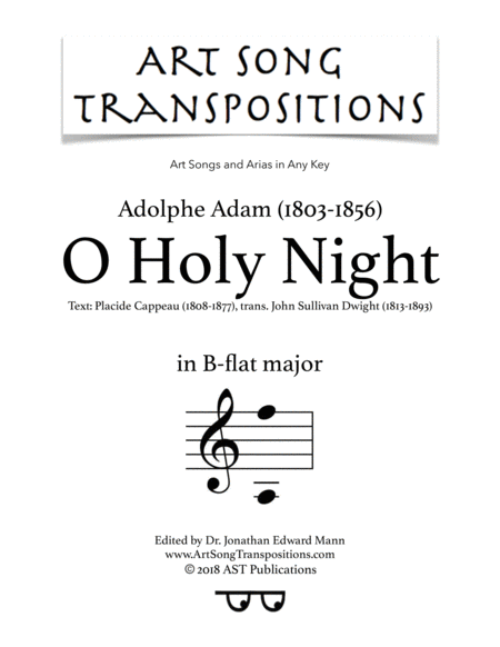 O Holy Night (B-flat major)