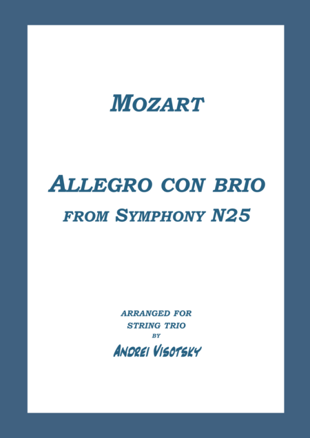 Allegro con brio from Symphony N25