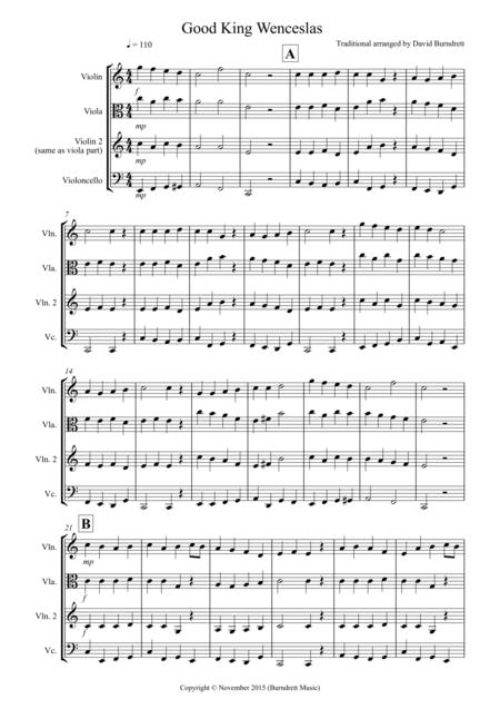 Good King Wenceslas for String Trio