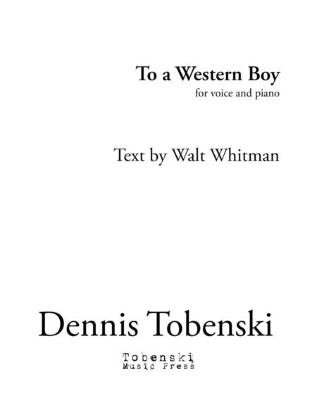 To  Western Boy