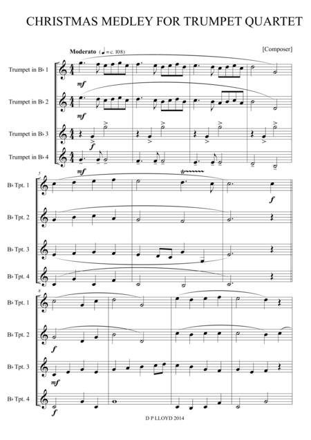 A Christmas medley for Trumpet quartet