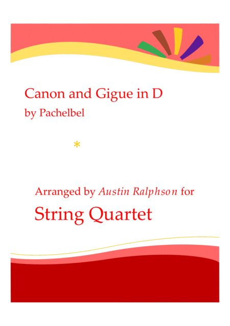 Canon and Gigue - string quartet