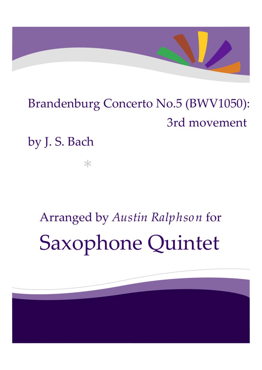 Brandenburg Concerto No.5, 3rd movement - sax quintet