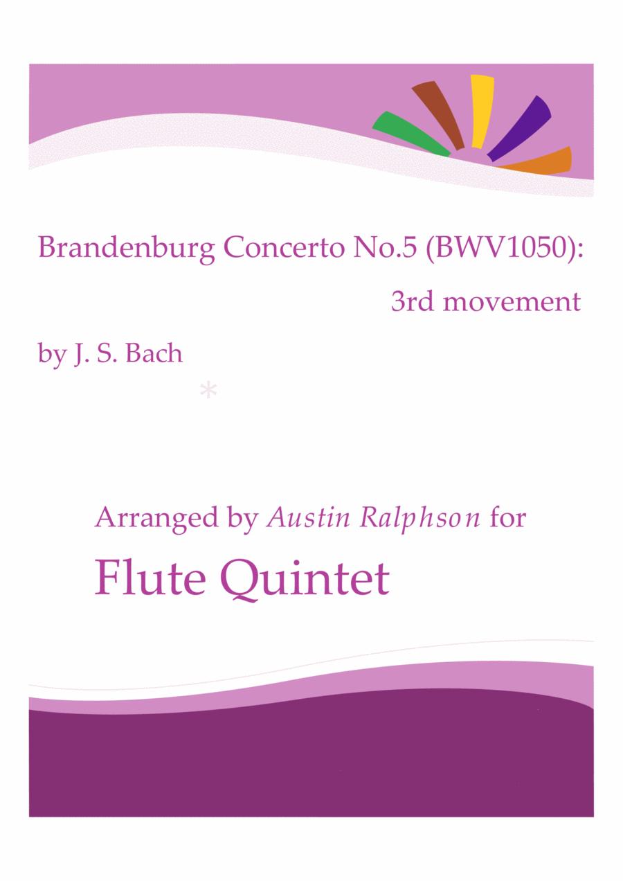 Brandenburg Concerto No.5, 3rd movement - flute quintet