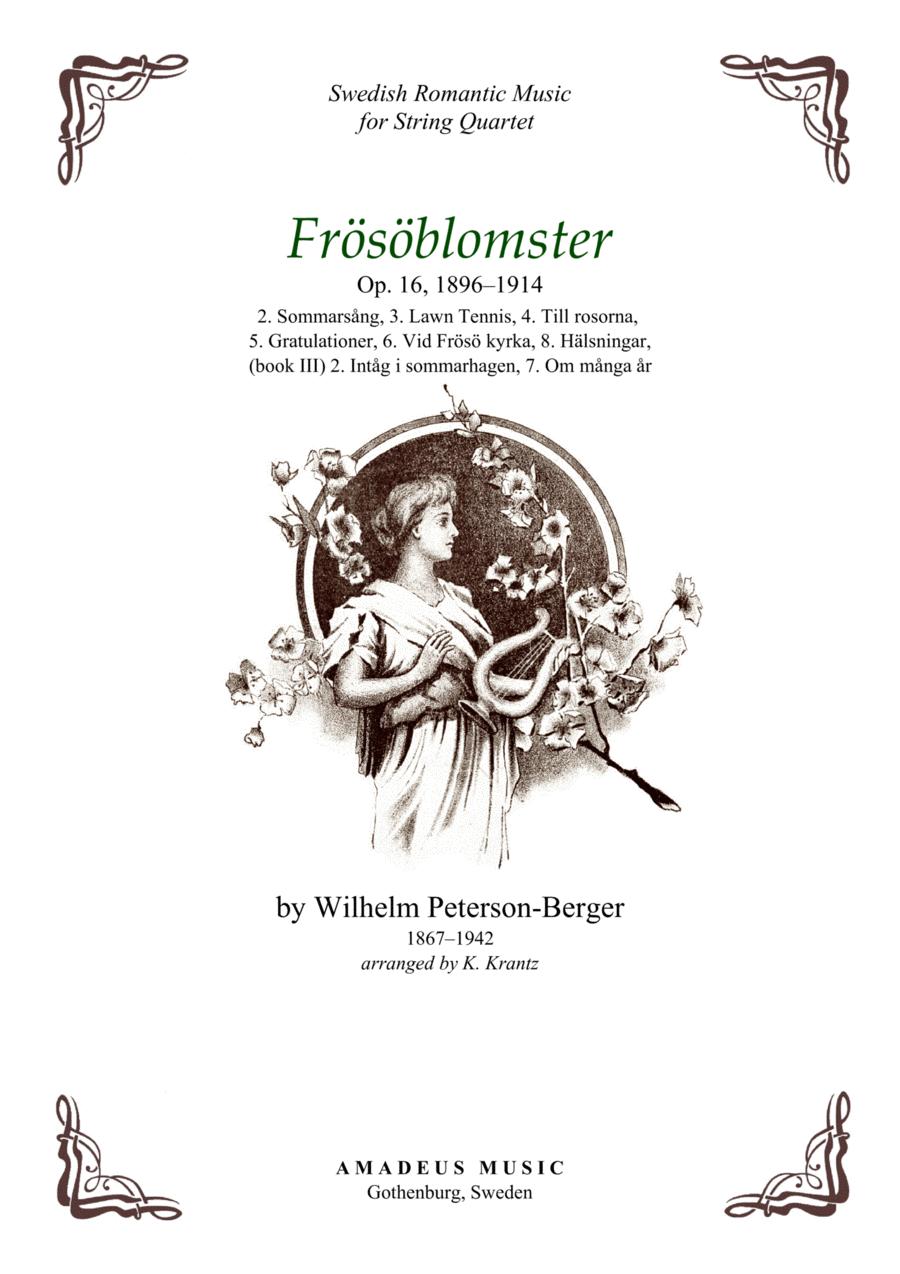 Frösöblomster Op. 16 - 7 pieces for string quartet