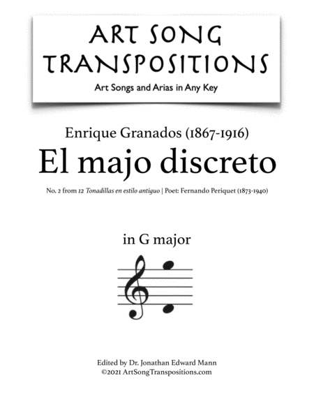 El majo discreto (G major)