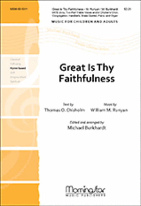 Great Is Thy Faithfulness (Choral Score)