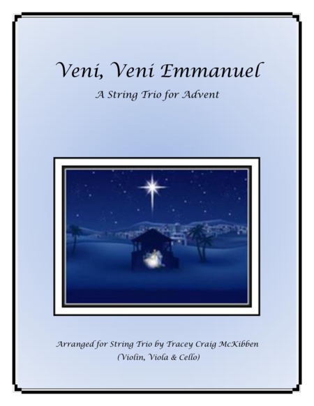 Veni, Veni, Emmanuel for String Trio