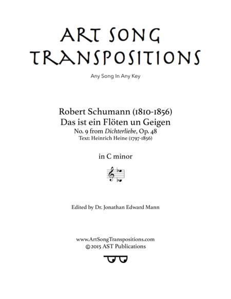 Das ist ein Flöten und Geigen, op. 48 no. 9 (C minor)