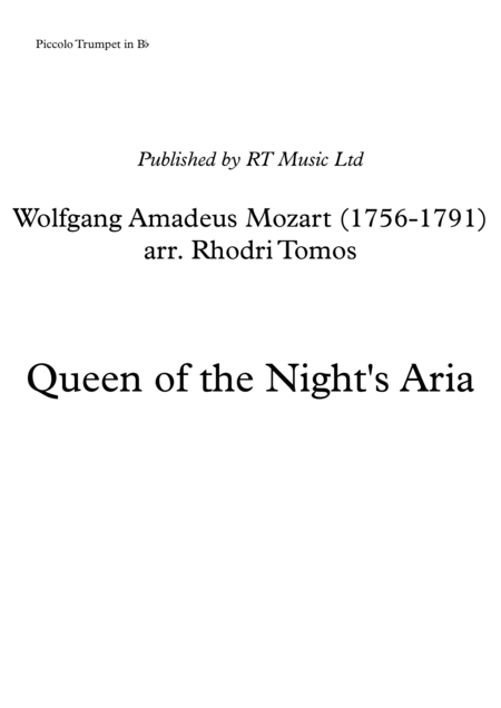 Mozart K620 Queen of the Night Aria (from Magic Flute)