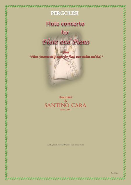 Pergolesi - Flute concerto in G for flute and piano