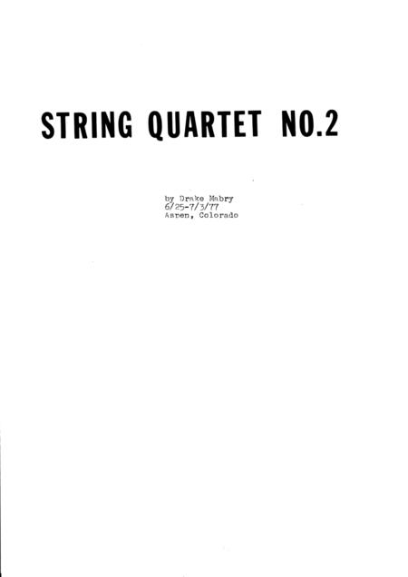 String Quartet No. 2 (score)