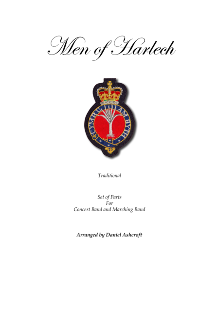 Men of Harlech - Parts Only