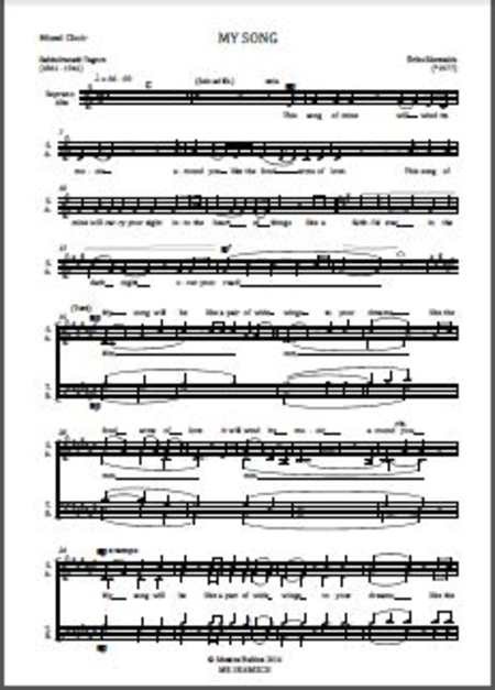 My Song (choral score)