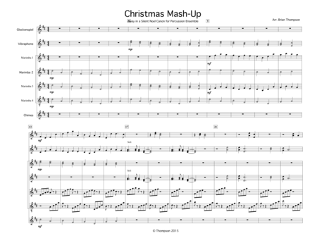 Christmas Mash-up For Percussion Ensemble