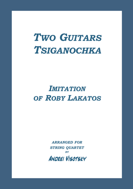 Two Guitars - Tsiganochka - Imitation of Roby Lakatos