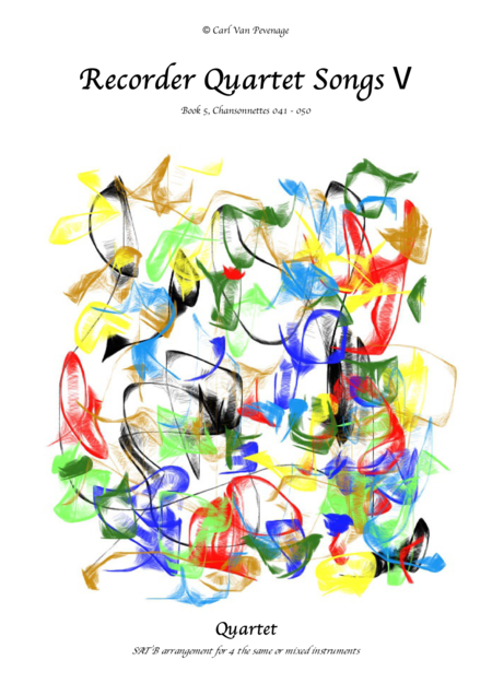 (BH005R*E*C) Recorder Quartet Songs, Book 5 (>70 pages)