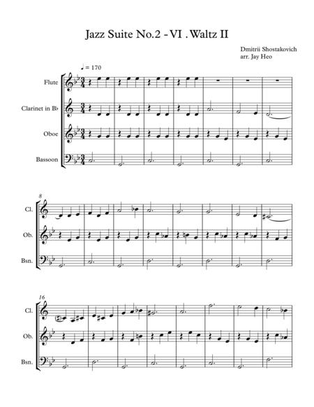 (Wind Quartet) Jazz Suite No.2 VI. Waltz II -Shostakovich