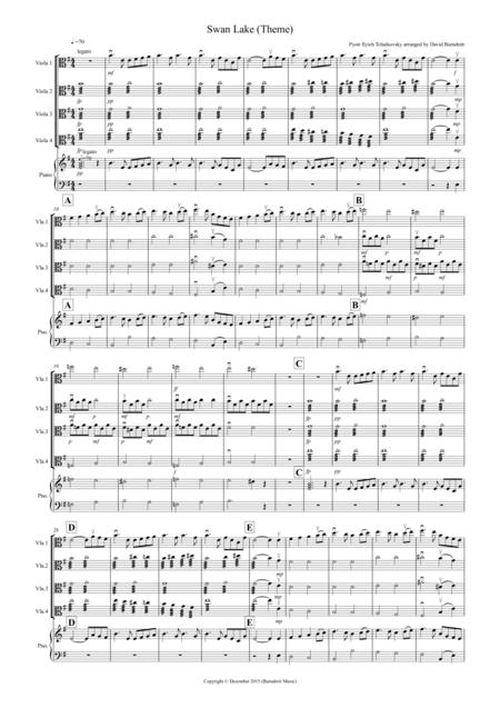 Swan Lake Theme for Viola Quartet