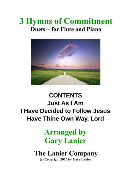 Gary Lanier: 3 HYMNS of COMMITMENT (Duets for Flute & Piano)