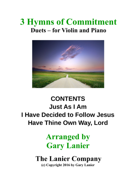 Gary Lanier: 3 HYMNS of COMMITMENT (Duets for Violin & Piano)