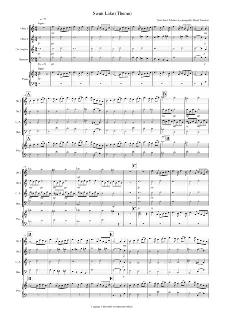Swan Lake Theme for Double Reed Quartet