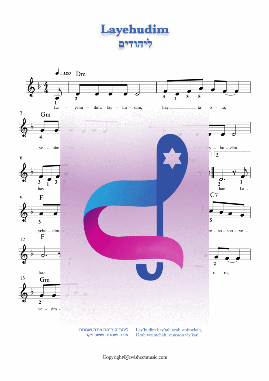 La yehudim purim song