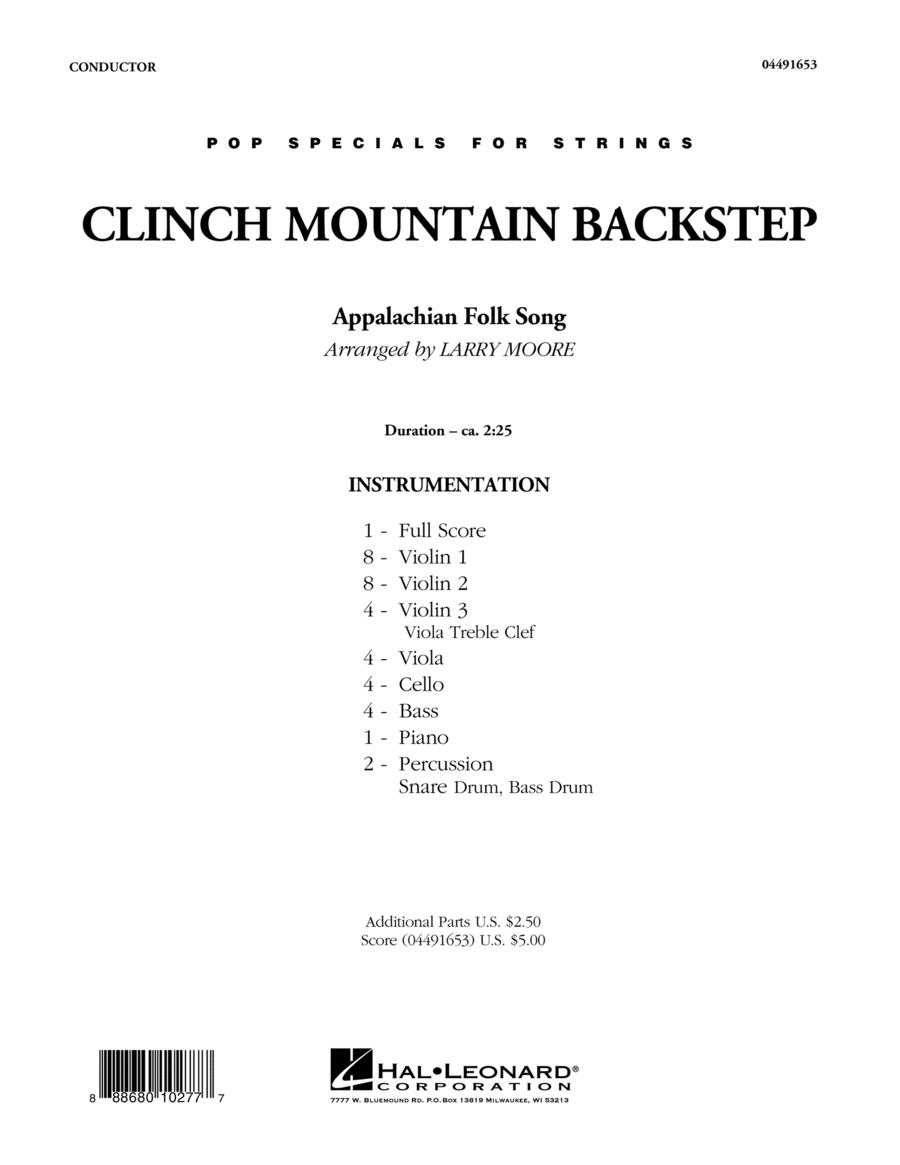 Clinch Mountain Backstep - Conductor Score (Full Score)