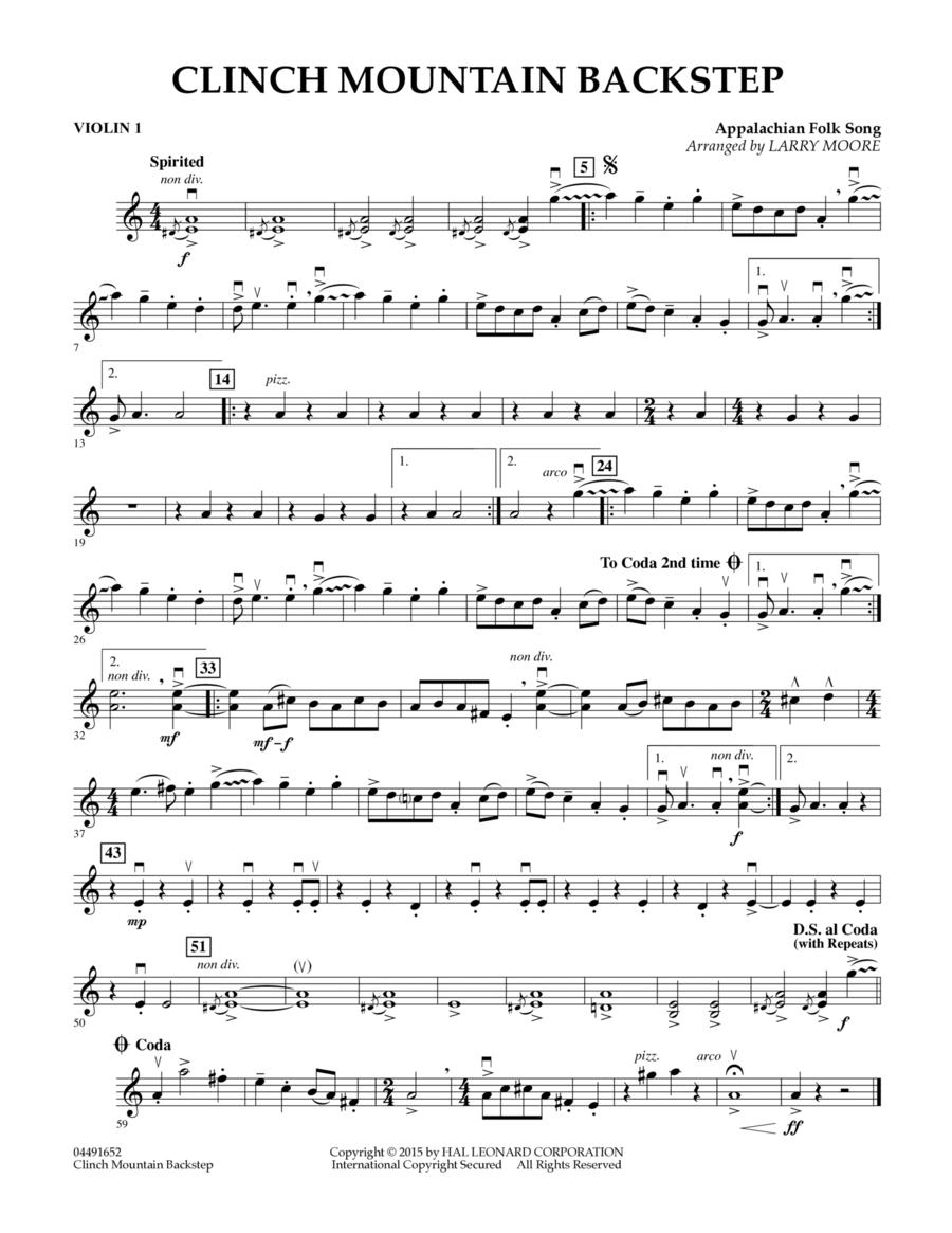 Clinch Mountain Backstep - Violin 1