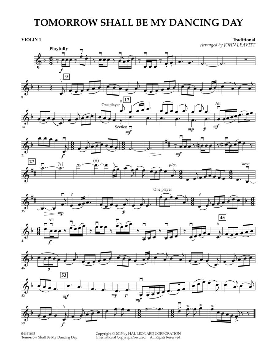 Tomorrow Shall Be My Dancing Day - Violin 1