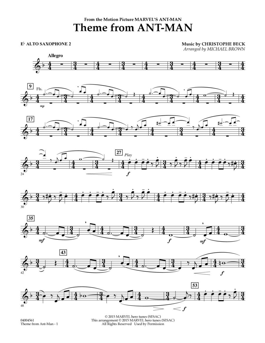 Theme from Ant-Man - Eb Alto Saxophone 2