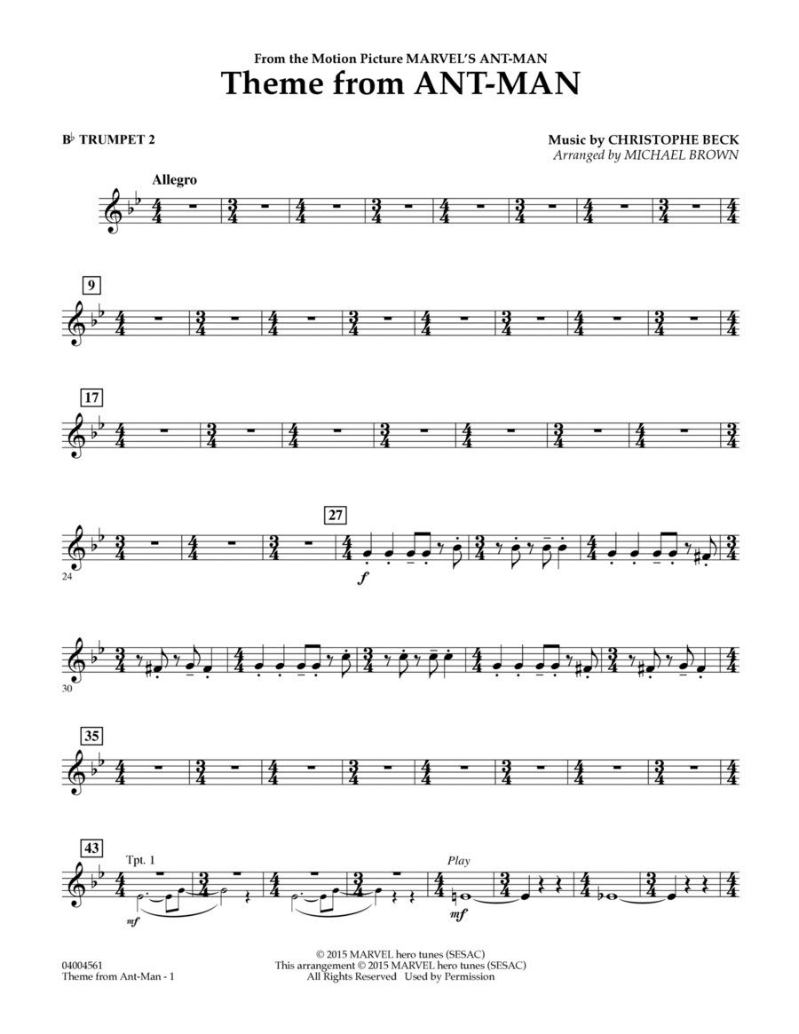 Theme from Ant-Man - Bb Trumpet 2