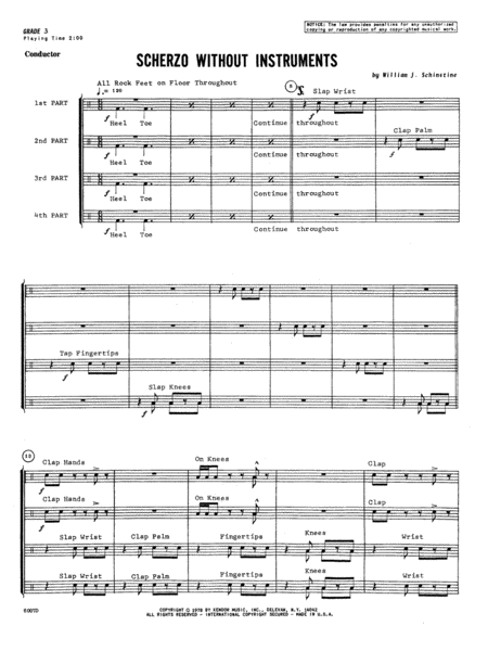 Scherzo Without Instruments - Full Score