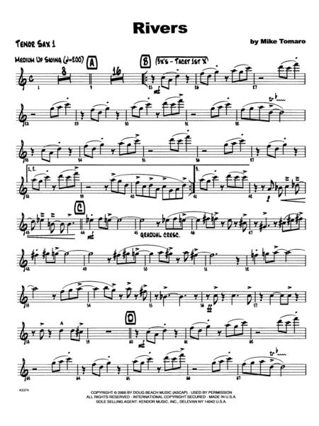 Rivers - 1st Tenor Saxophone
