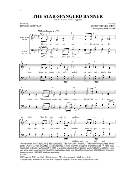 The Star-Spangled Banner (SATB)