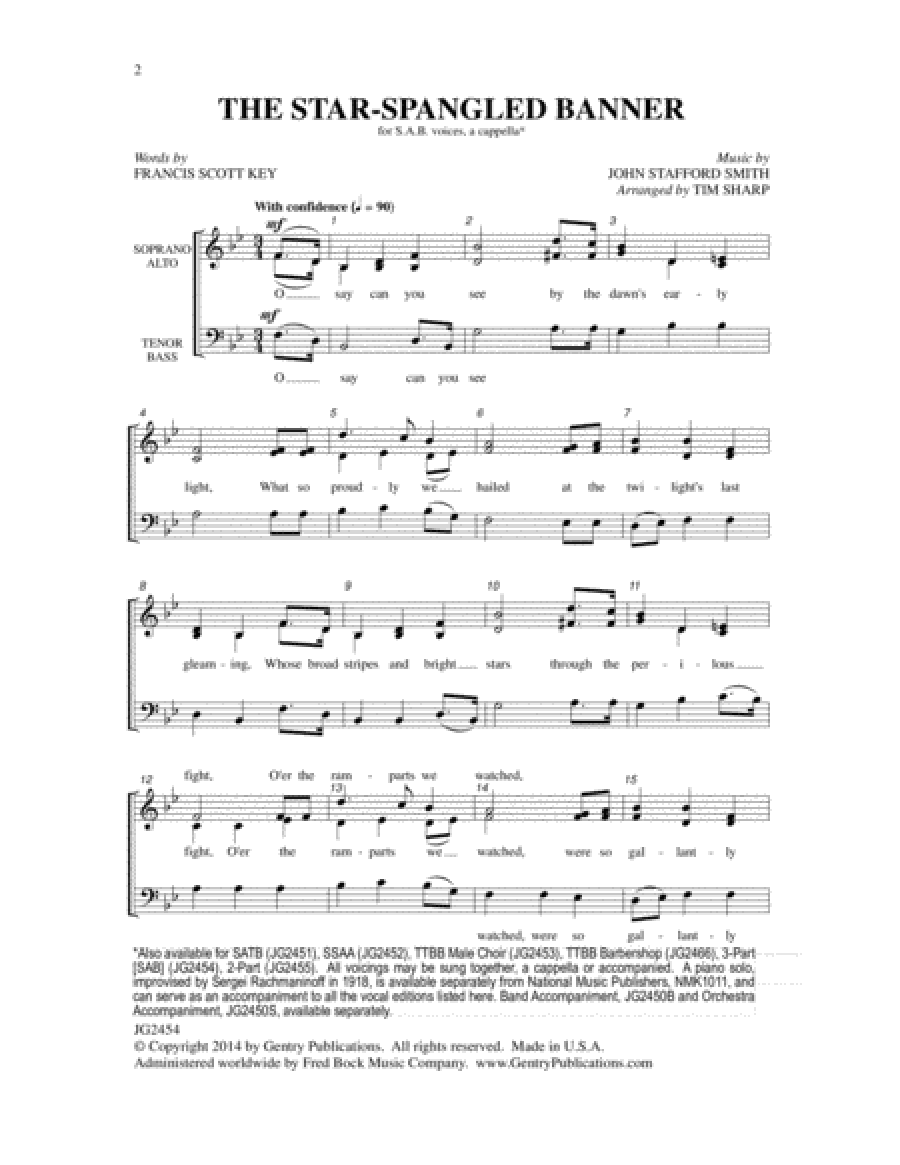 The Star-Spangled Banner (SAB)