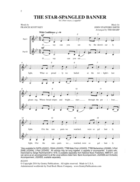 The Star-Spangled Banner (2-Part)