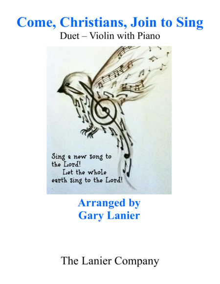 Gary Lanier: COME, CHRISTIANS, JOIN TO SING (Duet – Violin & Piano with Parts)