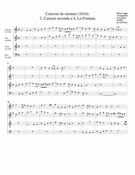 La Fontana a4 (Canzoni da suonare,1616, no.2)