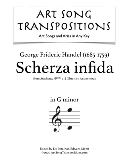 Scherza infida! (G minor)