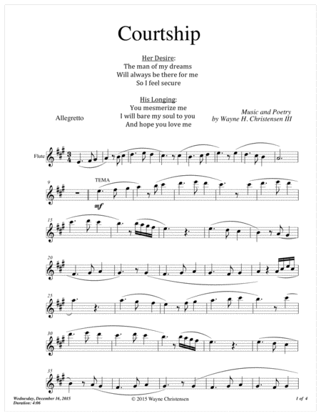 Courtship (Flute)