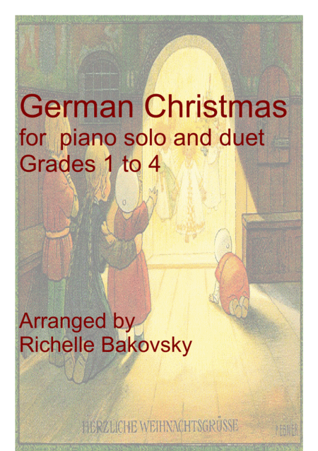 Weihnachtslider/German Christmas Songs for beginning piano