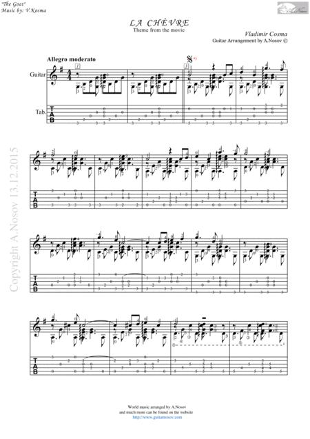La Chèvre (Sheet music for guitar)